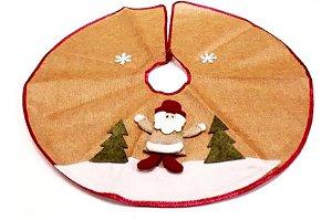 Saia De Juta Tapete Para Árvore De Natal Papai Noel 60 Cm