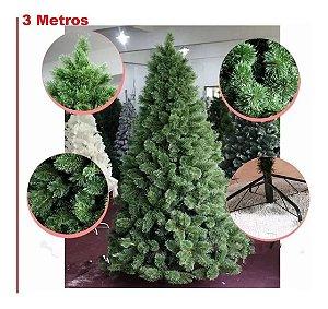 Árvore Pinheiro Natal Luxo Verde Nevada 3 Metros 1371 Galhos A0330N