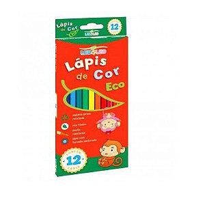 Lápis de Cor 12 Cores Ecológico Leo & Leo Ponta Resistente