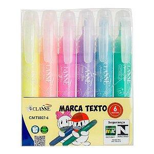 Caneta Marca Texto Classe 06 Cores Pastel Jumbo Cmt80276