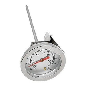 Termômetro Culinário Analógico De Inox Com Clip Prendedor  Para Panelas 550 Graus Hauskraft