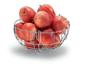 Fruteira De Mesa Aramada Aço Inox Wincy 24 Cm