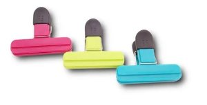Fechador Prendedor De Embalagens 3 Peças Unicasa Multiuso Clip