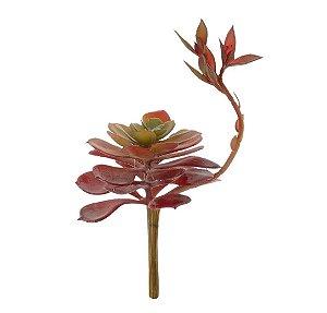Planta Artificial Suculenta Mini Lótus 13 Cm Decoração