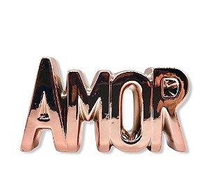 Enfeite Decorativo Cerâmico Palavra Amor Letreiro Mesa 16 Cm