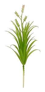 Planta Flor Artificial Verde Buquê Decoração Casa 26 Cm