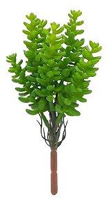 Planta Verde Suculenta Artificial Decoração Buquê Galho 20cm