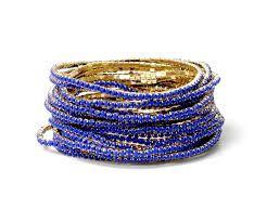 Pulseira strass Azul Royal