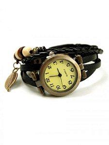 Relógio Pulseira em Couro