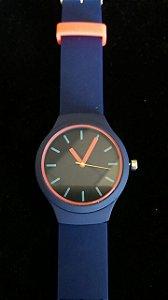 Relógio Silicone Azul Marinho