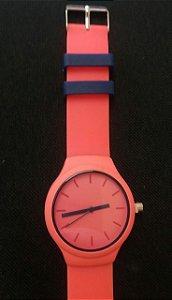 Relógio Silicone Rosa