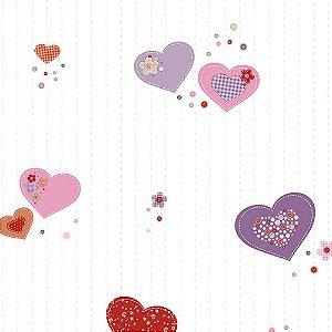 Papel de Parede Infantil Corações Ola Baby 2 OL220301R