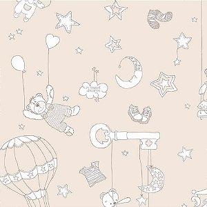 Papel de Parede Infantil Balões e Ursinhos Ola Baby 2 OL220902R