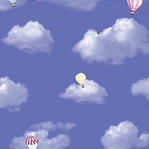 Papel de Parede Infantil Balões no Céu Nuvens Hello Kids HK223602R