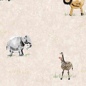 Papel de Parede Infantil Animais Hello Kids HK224401R