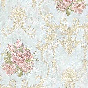 Papel de Parede Alto Relevo Floral Veneza VN7204010