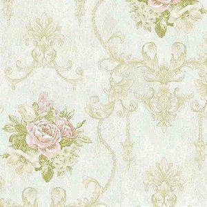 Papel de Parede Alto Relevo Floral Veneza VN7204020
