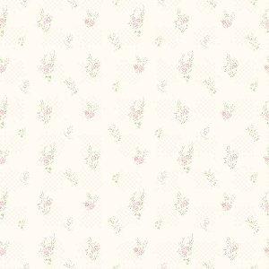 Papel de Parede Infantil Bambinos Floral Bege e Rosa 3349