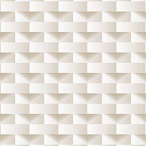 Papel de Parede Dimensões 3D Retângulo Bege 4701