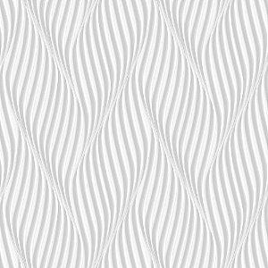 Papel de Parede Dimensões 3D Espiral Cinza 4706