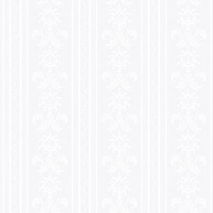 Papel de Parede Relevos Arabesco Listrado Branco 3400