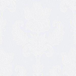 Papel de Parede Relevos Arabesco Vazado Branco 3403