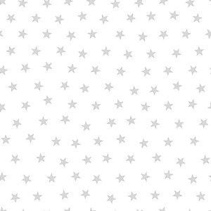 Papel de Parede Infantil Renascer Estrela pequena Prata 6214