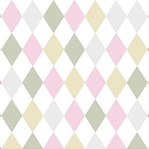 Papel de Parede Infantil Renascer Geométricos Losango Pérolado 6239