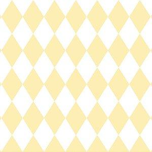 Papel de Parede Infantil Renascer Geométricos Losango Amarelo 6242