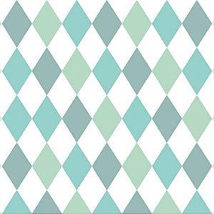 Papel de Parede Infantil Renascer Geométricos Losango Verde 6244
