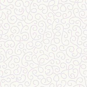 Papel de Parede Infantil Renascer Arabesco Branco 6254