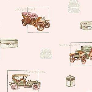 Papel de Parede Infantil Baby Charmed Carros, Caminhões, Ônibus e Trens BB220003