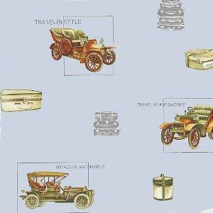 Papel de Parede Infantil Baby Charmed Carros, Caminhões, Ônibus e Trens BB220004