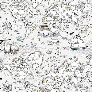 Papel de Parede Infantil Baby Charmed Mapa BB220304