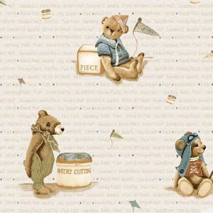 Papel de Parede Infantil Baby Charmed Ursinhos BB220701
