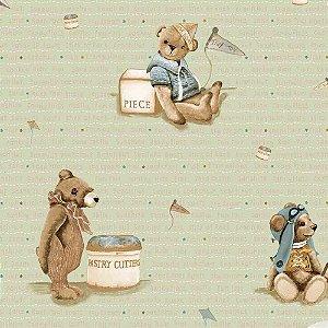 Papel de Parede Infantil Baby Charmed Ursinhos BB220704
