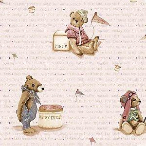 Papel de Parede Infantil Baby Charmed Ursinhos BB220706