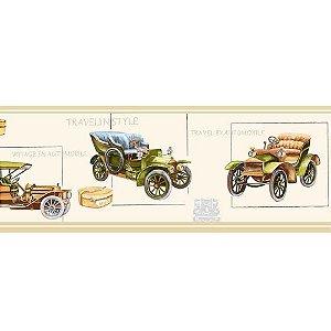 Faixas de Parede Baby Charmed Carros de Época Vintage Retrô BB220001B