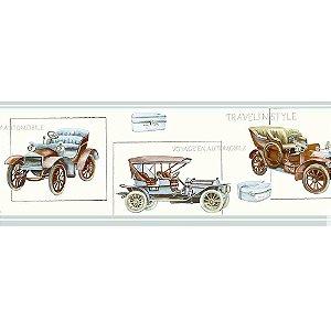 Faixas de Parede Baby Charmed Carros de Época Vintage Retrô BB220002B