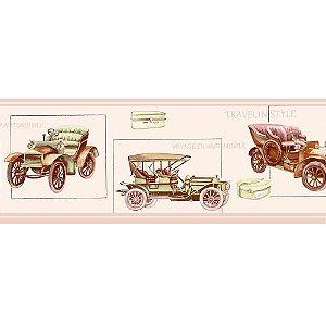 Faixas de Parede Baby Charmed Carros de Época Vintage Retrô BB220003B