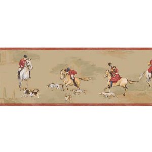 Faixas de Parede Baby Charmed Animais Cavalos BB220104B