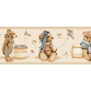 Faixas de Parede Baby Charmed Ursos Ursinhos BB220702B