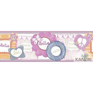Faixas de Parede Baby Charmed Animais Corujas Corujinhas Coelhos Coelhinhos  BB221303B