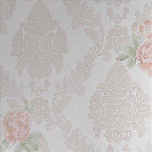 Papel de Parede Grace Arabesco com Flores (Floral) GR922004