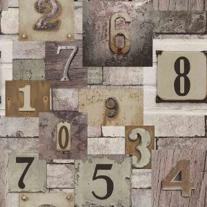 Papel de Parede Neonature 4 Letras & Números  4N854103R
