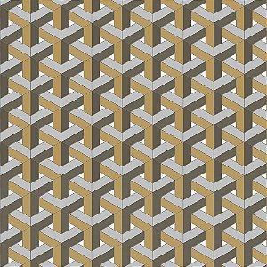Papel de Parede New Form Geométricos 3D NF630105