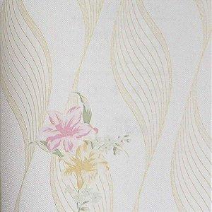 Papel de Parede Scenery 2 Geométricos com Ondas e Flores SC29051