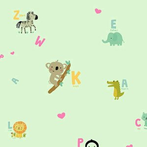 Papel de Parede Infantil YOYO Letras & Números YY222504R