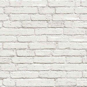 Papel de Parede Stone Age Tijolinho Branco Claro SN601001R