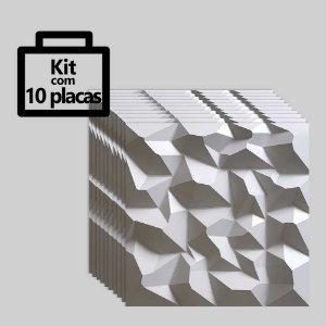 Kit com 10 unidades - Painel 3D Autoadesivo Alpes